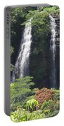 Opaekaa Falls On Kauai Before A Storm Portable Battery Charger