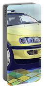 Opel Omega A Caravan Prague Taxi Portable Battery Charger by Yuriy Shevchuk