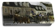 Open Carriage Ride In Colonial Williamsburg Virginia Portable Battery Charger