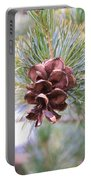 Open Pine Cone Portable Battery Charger