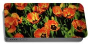 Open Wide - Tulips On Display Portable Battery Charger