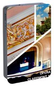 Opera House Diagonal Collage Portable Battery Charger