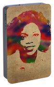 Oprah Winfrey Vintage 1978 Watercolor Portrait Portable Battery Charger