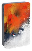 Splashes At Sunset - Orange Abstract Art Portable Battery Charger
