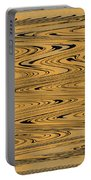 Orange And Black Abstract Portable Battery Charger