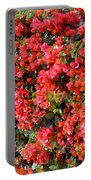 Orange And Colral-pink Flowers 2 Portable Battery Charger