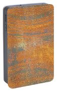 Orange And Gray Abstract Portable Battery Charger