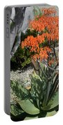 Orange And Pink Exotic Bell Flowers Portable Battery Charger