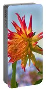 Orange And Yellow Dahlia Portable Battery Charger