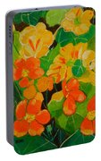 Orange And Yellow Days Portable Battery Charger