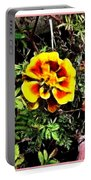Orange And Yellow Flower Portable Battery Charger