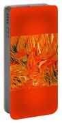 Orange Art Portable Battery Charger by Colette V Hera Guggenheim