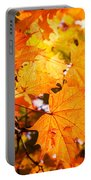 Fall Of Orange Leaves Portable Battery Charger