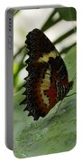 Orange Black Butterfly Portable Battery Charger