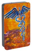 Orange Blue Purple Medical Caduceus Thats Atmospheric And Rising With Mystery Portable Battery Charger