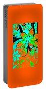 Orange Burst Flower Portable Battery Charger