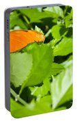 Orange Butterfly On Foliage Portable Battery Charger