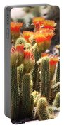 Orange Cactus Blooms Portable Battery Charger