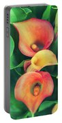 Orange Calla Lily Portable Battery Charger