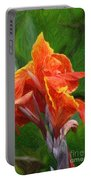 Orange Canna Art Portable Battery Charger