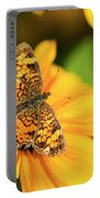 Orange Crescent Butterfly Portable Battery Charger
