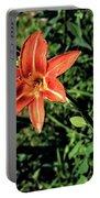 Orange Day Lily 1 Portable Battery Charger