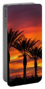 Orange Dream Palm Sunset  Portable Battery Charger