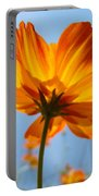 Orange Floral Summer Flower Art Print Daisy Type Blue Sky Baslee Troutman Portable Battery Charger