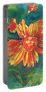 Orange Flower 1 Portable Battery Charger