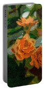 Orange Flower Abstract Portable Battery Charger