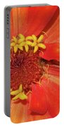 Orange Flower Macro Portable Battery Charger