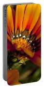 Orange Flower Print Portable Battery Charger