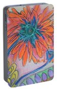 Orange Flowers Portable Battery Charger