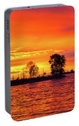Orange Glow Sunset At Sunset Beach In Vancouver Bc Portable Battery Charger