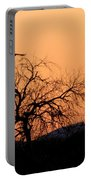 Orange Glow Sunset In The Desert Portable Battery Charger