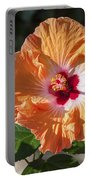 Orange Hibiscus Portable Battery Charger