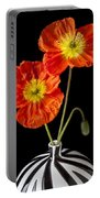 Orange Iceland Poppies Portable Battery Charger by Garry Gay