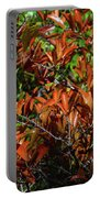 Orange Leaves Portable Battery Charger