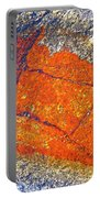 Orange Lichen Portable Battery Charger by Heiko Koehrer-Wagner