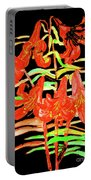 Orange Lilies, Hand Drawn Painting Portable Battery Charger