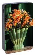 Orange Lilies In June Portable Battery Charger