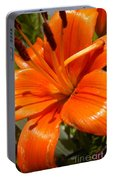 Orange Lily Portable Battery Charger