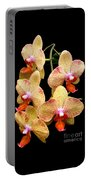 Orange Orchid Phalaenopsis Portable Battery Charger