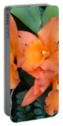 Orange Orchids Portable Battery Charger