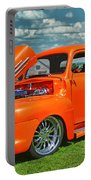 Orange Pick Up At The Car Show Portable Battery Charger