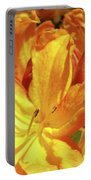 Orange Rhodies Flowers Art Rhododendron Baslee Troutman Portable Battery Charger