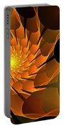 Orange Rose Blossom Portable Battery Charger
