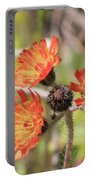 Orange Small Flowers With Buds Portable Battery Charger