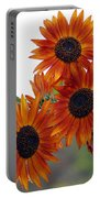 Orange Sunflower 1 Portable Battery Charger