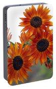 Orange Sunflower 1 Portable Battery Charger